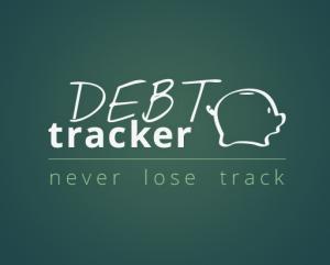 Debt tracker concept logo